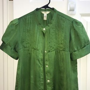 Gap women's size small green short sleeve blouse